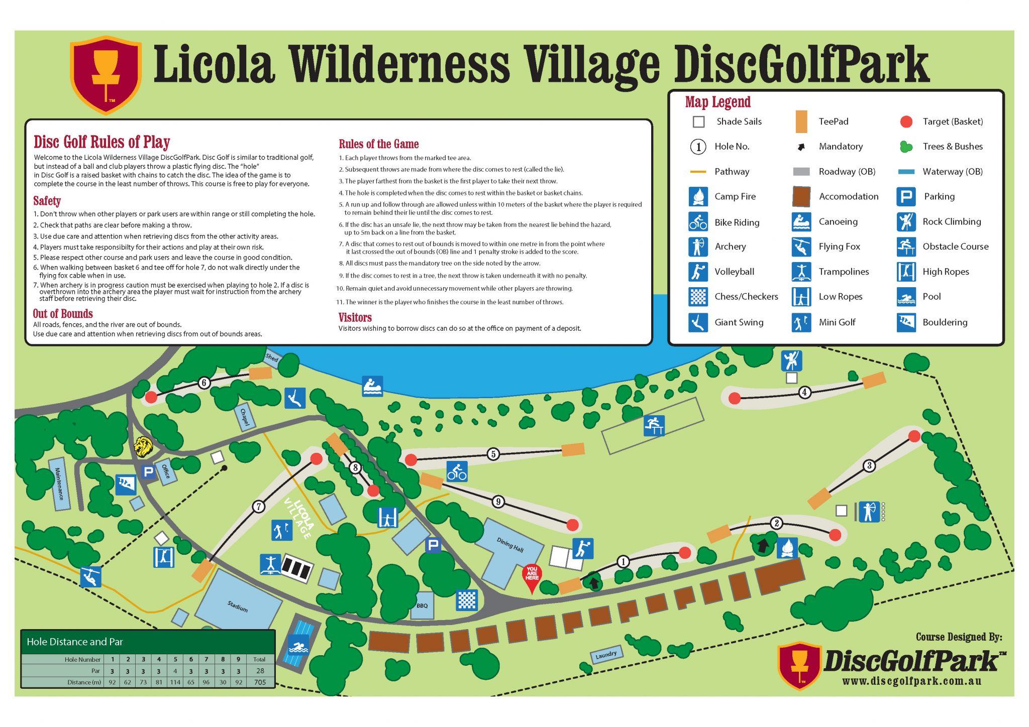 An image of licola wilderness village disc golf park