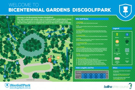 An image of Bicentennial Gardens Disc Golf Course