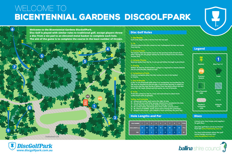Bicentennial Gardens Disc Golf Course