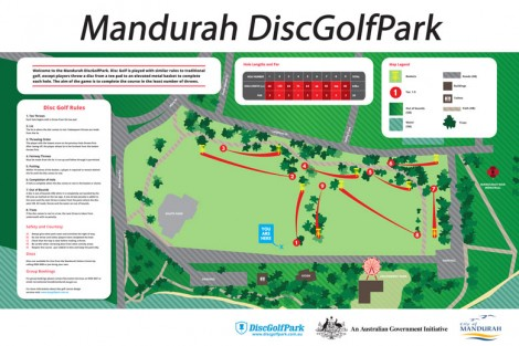 image of Mandurah Disc Golf Course Infoboard