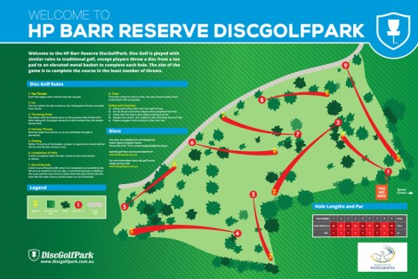 Wangaratta Disc golf Course map image