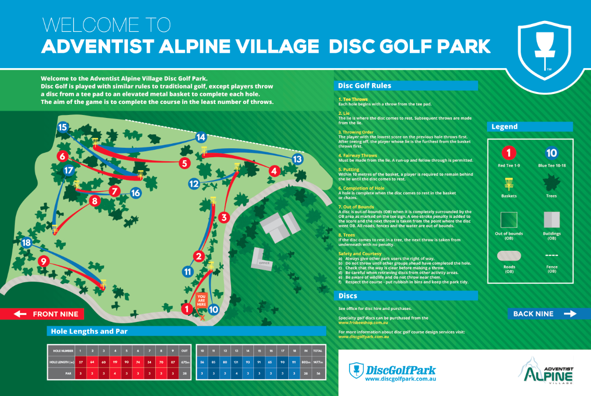 Adventist Alpine Village Disc Golf Park